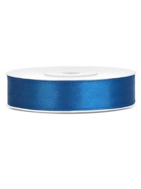 Tasiemka satynowa 12mm 25m, niebieska