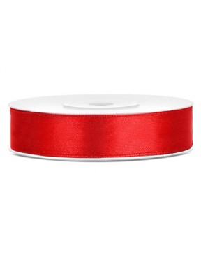 Tasiemka satynowa 12mm 25m, czerwona