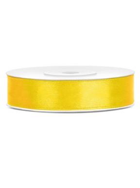 Tasiemka satynowa 12mm 25m, żółta