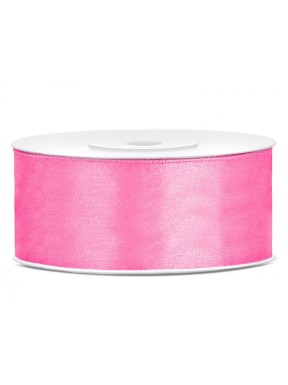 Tasiemka satynowa 25mm 25m, różowa