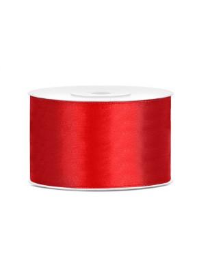 Tasiemka satynowa 38mm 25m, czerwona