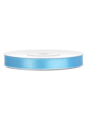 Tasiemka satynowa 6mm 25m, błękitna