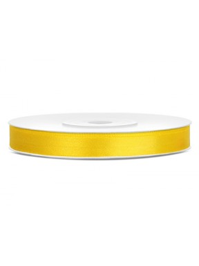 Tasiemka satynowa 6mm 25m, żółta