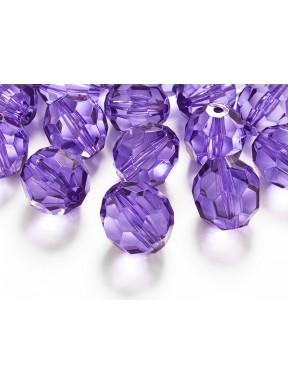 Kryształowe koraliki liliowe, 15 szt