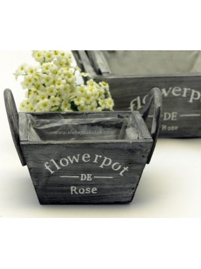 Drewniany pojemnik na kwiaty 12 x 12