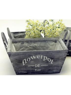 Drewniany pojemnik na kwiaty 19 x 19
