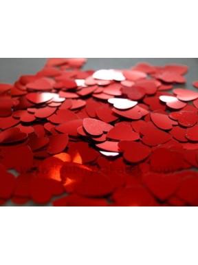 Konfetti serduszka czerwone 10