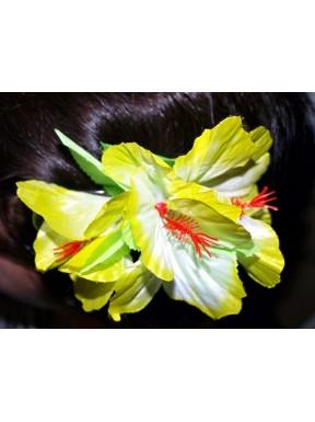 Kwiat do włosów żółty