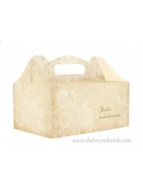 Pudełko na ciasto SŁODKIE PODZIĘKOWANIE