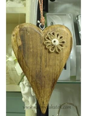 Serce drewniane