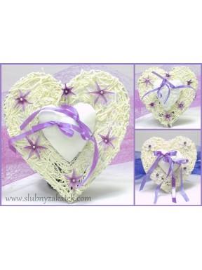 Serce na obrączki fiolet