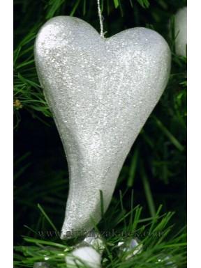 Serce srebrne do zawieszenia