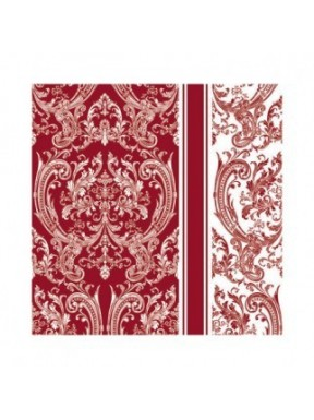 Serwetki Paw Royal Pattern Dark Red