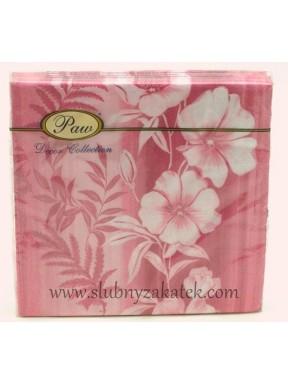Serwetki Paw pink flower