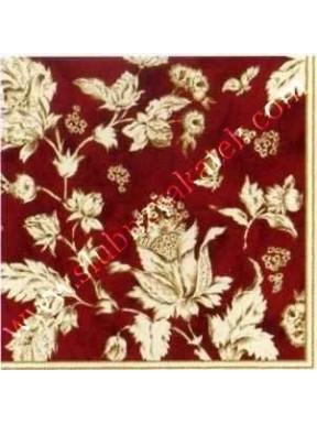 Serwetki bordowe w kwiaty