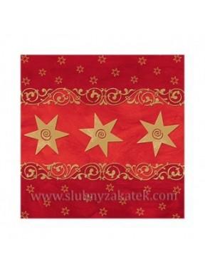 Serwetki świąteczne Gwiazdki