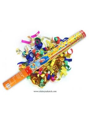 TUBA 60 kolorowe konfetti i metaliczne serpentyny