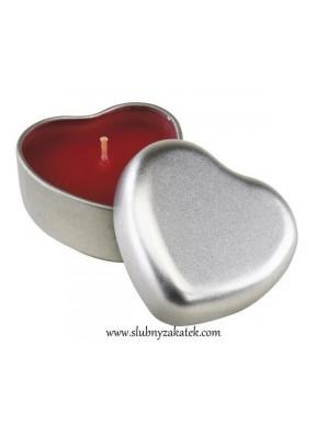 Świeczka w kształcie serca
