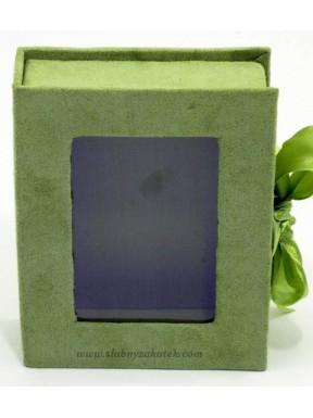 Pudełko ozdobne zielone