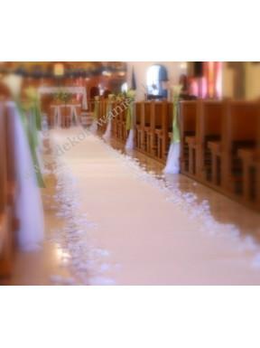 Biały dywan 1m