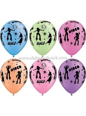 Balony z nadrukiem 'Disco'