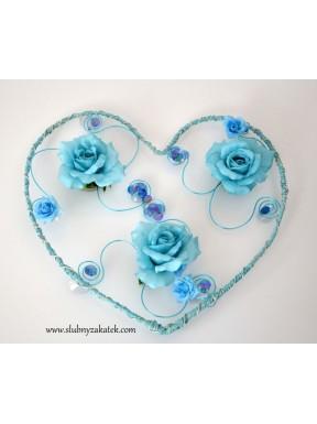 Serce na samochód Blue