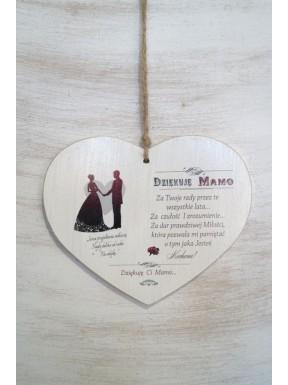 Tabliczka drewniana DZIĘKUJĘ MAMO