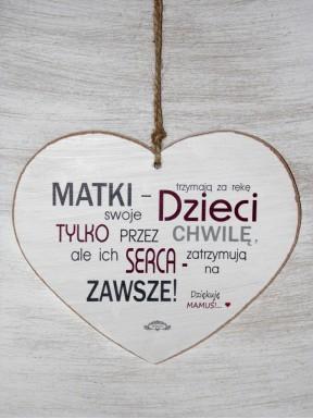 Serce drewniane - dziękuję mamuś
