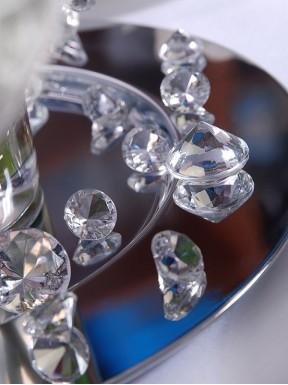 Diamentowe konfetti bezbarwne, 10 szt