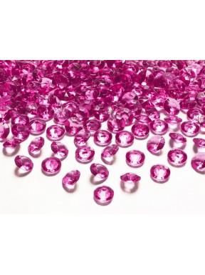 Diamentowe konfetti c. różowe, 100 szt