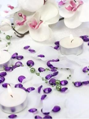Diamentowe konfetti śliwkowe, 100 szt