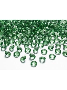 Diamentowe konfetti zielone, 100 szt