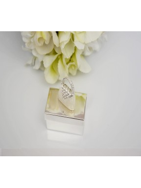 Pudełeczko srebrne TOREBECZKA, na pierścionek, obrączki