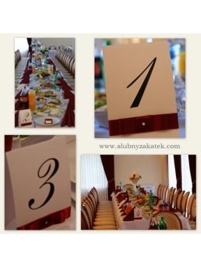 NUMERKI na stoły Baśniowy