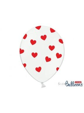 Balon pastel czerwone serca