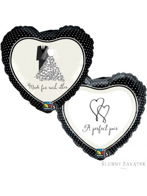 "Balon foliowy ""A perfect pair"" 18"""