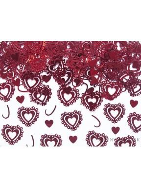 Konfetti serca czerwone