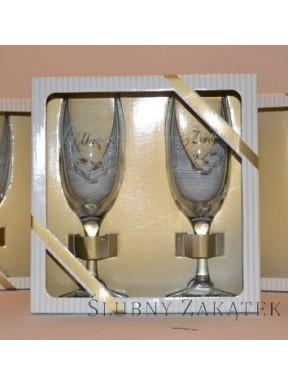Kieliszki do szampana Mąż i Żona