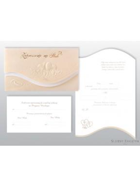 Zaproszenie na ślub perłowe ZZ05