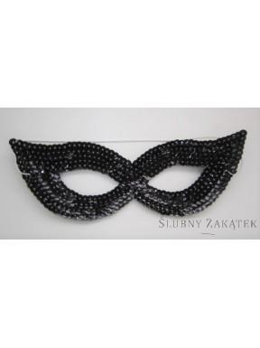 Maska cekinowa czarna