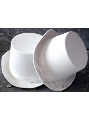 Cylinder biały gładki