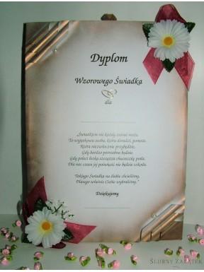 Dyplom dla Świadków MARGERYTKI - zestaw