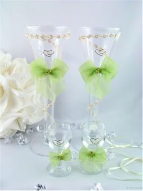 Komplet kieliszków Cristal GREEN