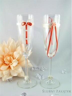 Kieliszki do szampana TANGO łosoś + krem