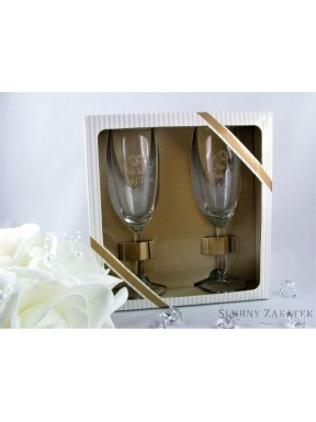 Kieliszki do szampana 100 LAT MŁODEJ PARZE