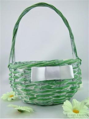 Koszyczek wiklinowy zielony