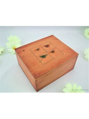Kasetka drewniana mała