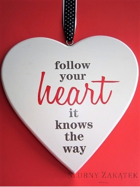 Serce drewniane FOLLOW YOUR HEART