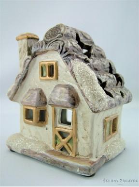Domek ceramiczny na tealight