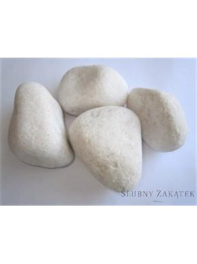 Kamienie do dekoracji, białe